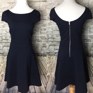 Banana Republic fit & flair stretch dress, Navy 4